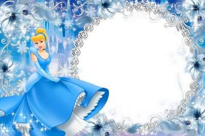 Children's frame for girls - Cinderella