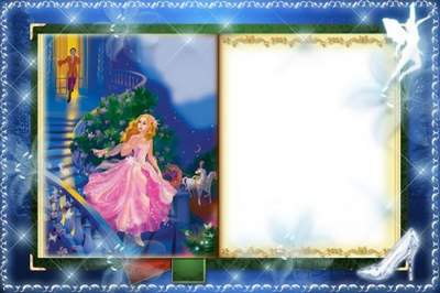 Kid's Photoframe free psd download - Tale of Cinderella
