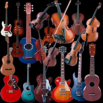 Musical instruments Clipart psd download