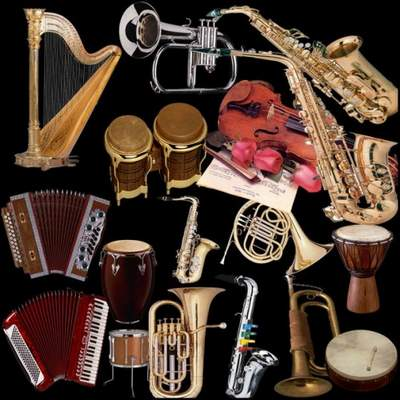 Musical instruments Clipart free psd