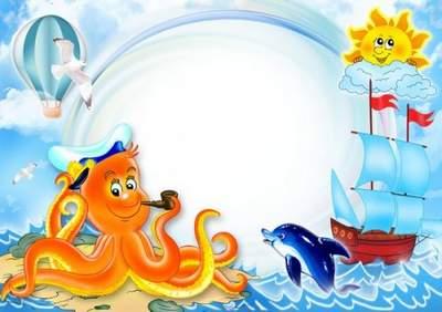 Children's marine frameworks for photoshop free download