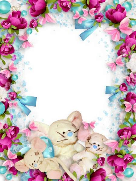 Children frame for Photoshop free download - Soft toys for my tot