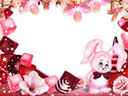 Frame free download - Pink Bunny