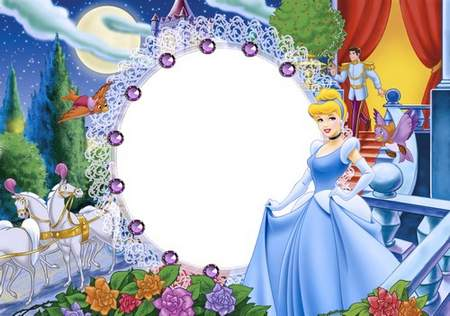 Children frame for a picture from a fairy tale