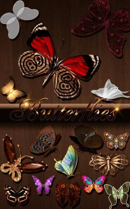Beautiful butterfly clipart download - 123 free png images butterflies