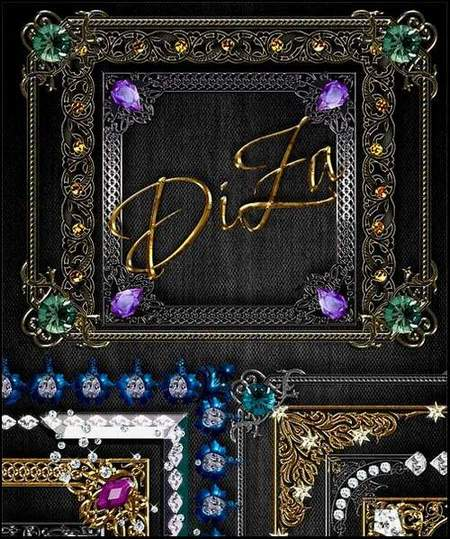 Jewelry frames download - 42 free png frames of precious metals and stones