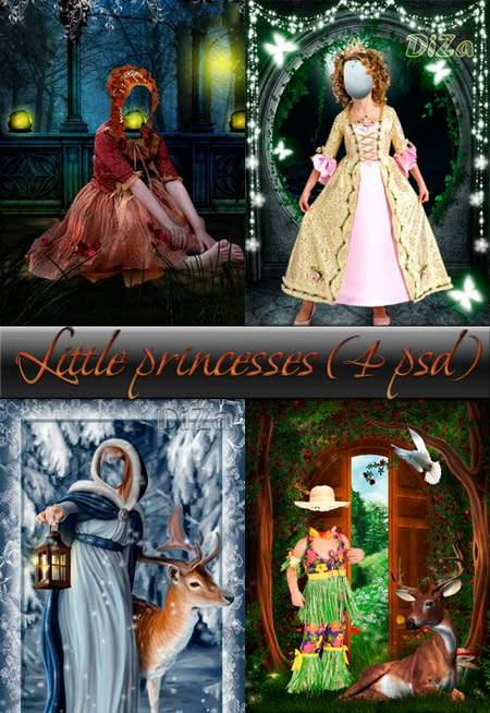 Photoshop templates for girls download - Fairy Princess 4 free psd