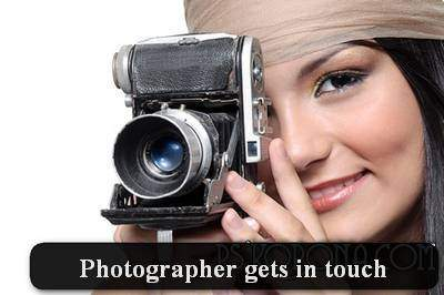 Photographer gets in touch