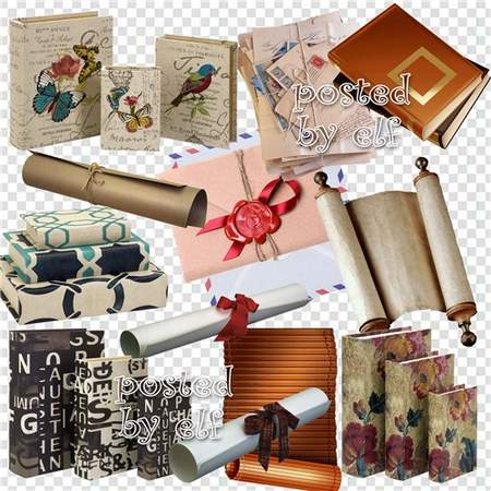 Paper clipart download - books, scrolls and envelopes 251 free png images