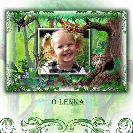 Children frame for Photoshop - Jungle