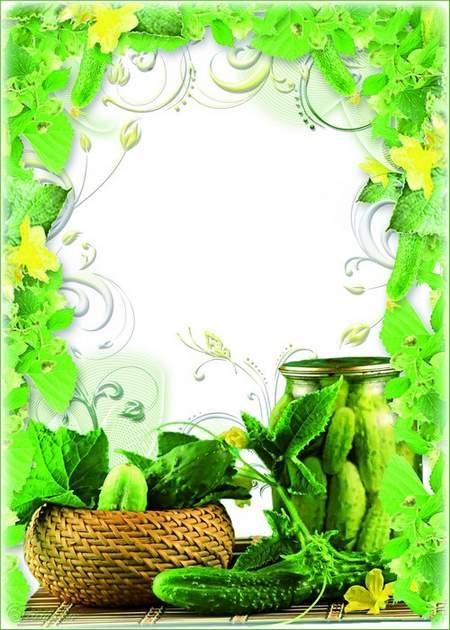 Summer Frame - I - green cucumber, Vitamin heart of oak