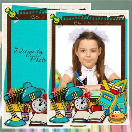School frame download - Back to school (free frame psd)