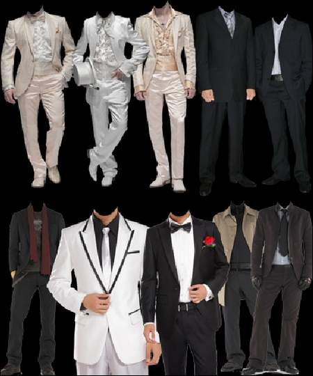 Mens business suits download - 9 free png images for a photomontage