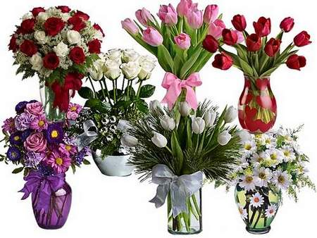 Flowers in vases download - Clipart free psd file