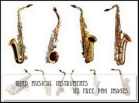 Wind musical instruments download - Clipart on a transparent background