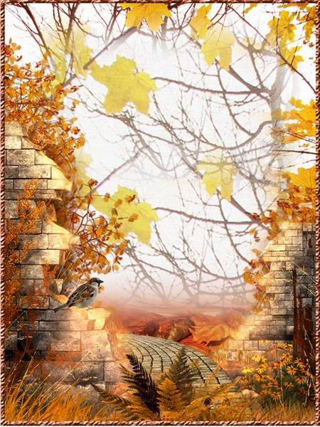 Frame collage for photoshop - Rainy autumn