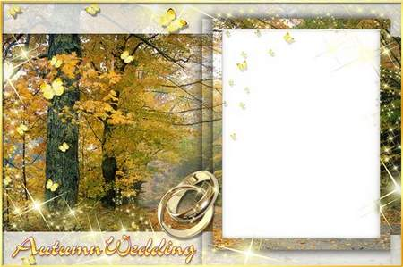 Autumn wedding Frame for photo download