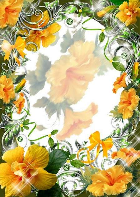 Flower Frame download - free psd template