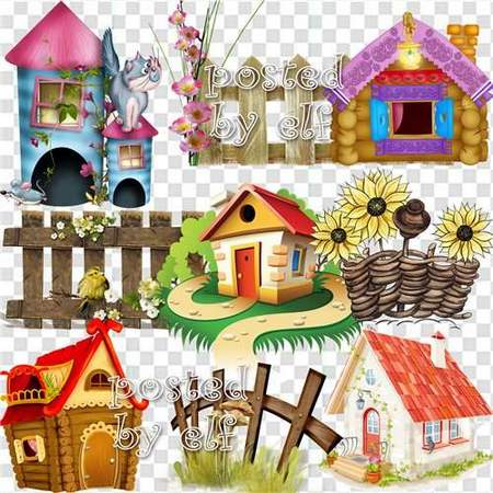 Fabulous clipart download - Fairy houses, fairies, fences (153 free png images)