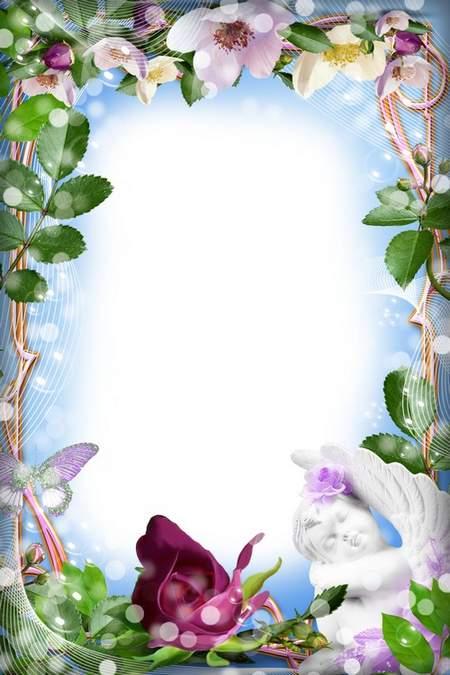 Frame for Photoshop - Spring angel