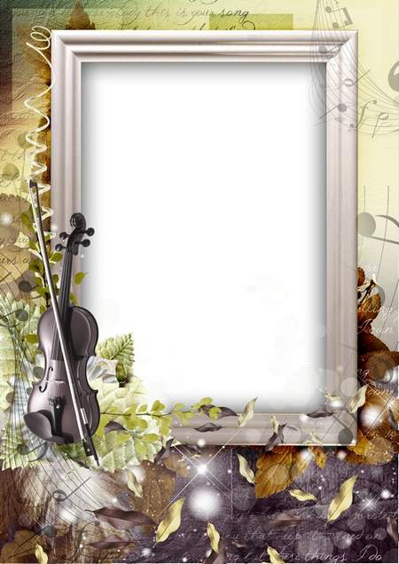 autumn frame psd for photoshop download - Melody of autumn