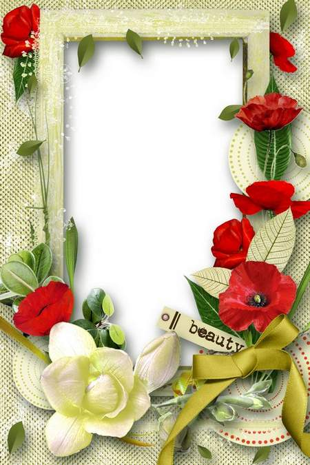 Flower Frame for photoshop - the Most beautiful