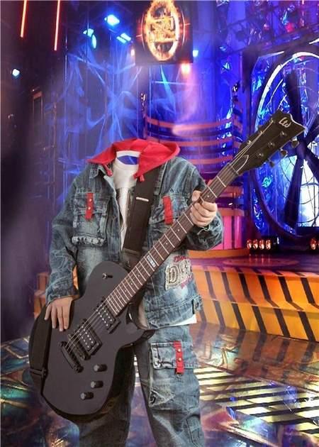 Boy guitarist