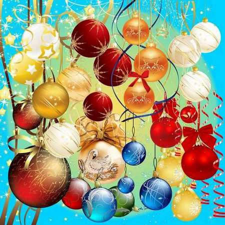 Clip Art psd download - Christmas balls on a transparent background