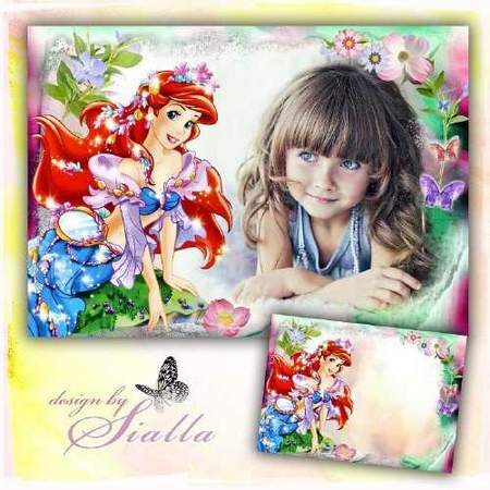 Ariel photo frame download - Beautiful photo frame for girl is Your girlfriend Ariel
