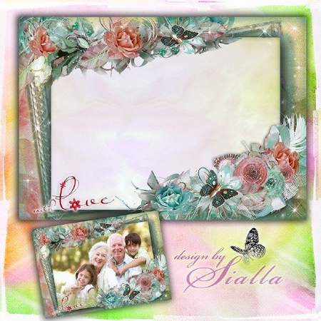 family frame download family idyll vintage frame template free