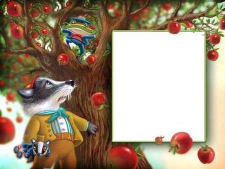 Free Apples photo frame for children's photography download