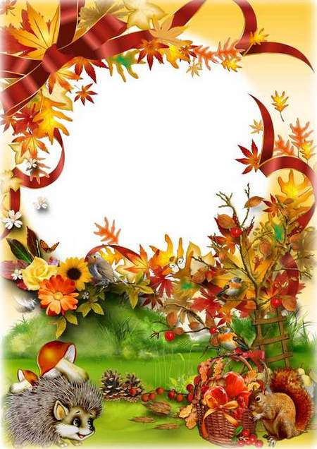 Photo frame psd download- The Autumn silence
