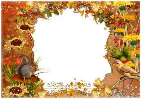 Autumn Picture Frame download - free Beautiful autumn frame psd