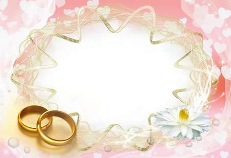 Three delicate wedding frame - Our Wedding