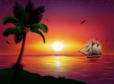 Sea backgrounds download - 2 free psd backgrounds sunset on the sea