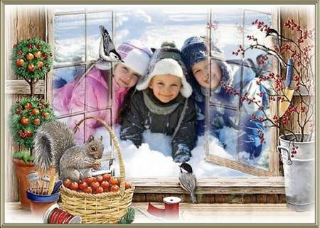 Frame for photoshop - Day of the birth of Christ the world more beautiful
