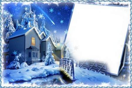 Winter Frame for photoshop download