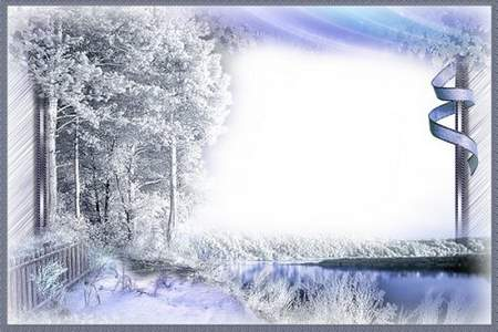 Frame for photoshop - Silver threads winter