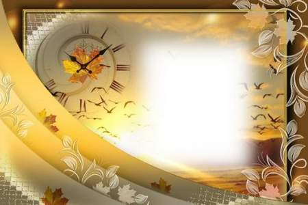 Autumn Frame psd collage download for photoshop - Autumn Shine