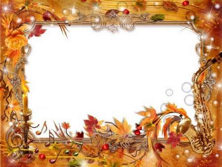 Frame PSD download - Autumn tints plays swallow waltz over land