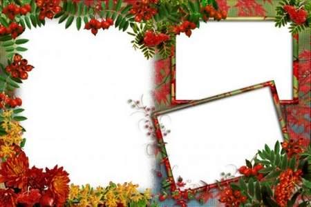 Photo frames - Ah, the red rowan of autumn yellow