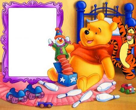 Frame For Photoshop Winnie The Pooh Transparent Png Frame Psd