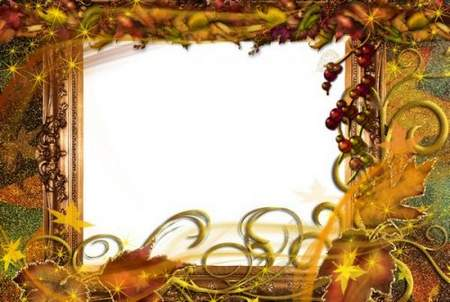 autumn Frame for Photoshop download - Our fall