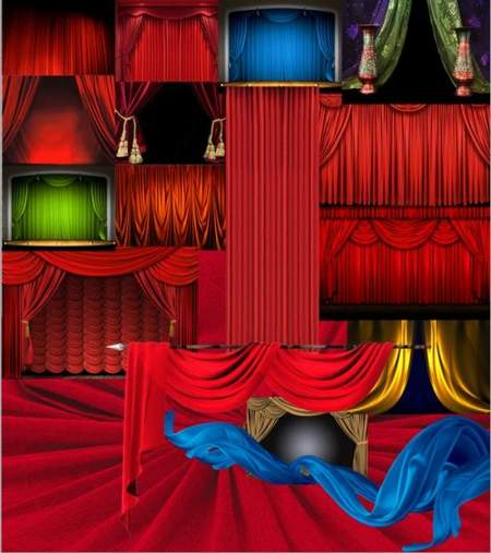 Curtains clipart download - free psd file