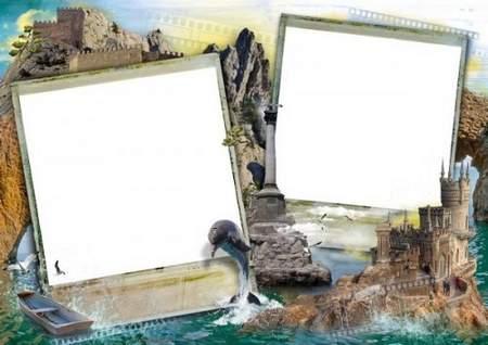 Travel frame download - free photo frame psd png. Transparent PNG ...