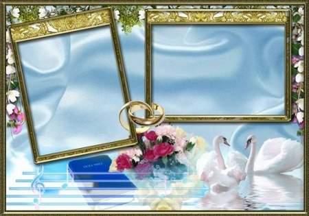 Wedding frame psd download