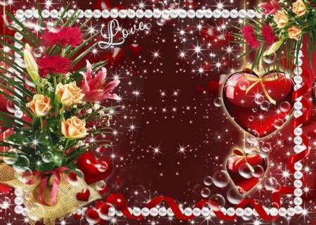 Psd source – Valentines Day photo frame download