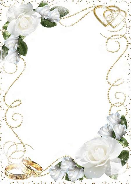 Photo frame - Wedding roses