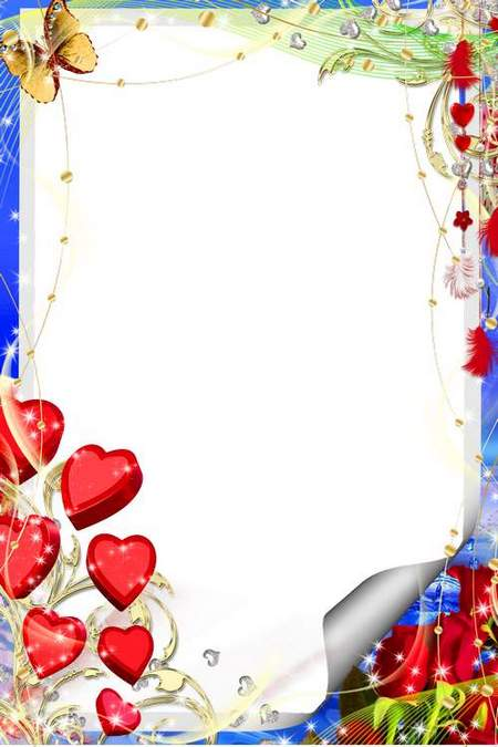 Romantic frame for your photo download- Valentine's Day
