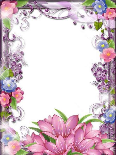 Spring Frame - Beautiful pink pattern painted in the spring of the land